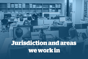 jurisdiction and areas we work in